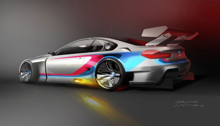 BMW Unveils Concept Art for 2016 M6 GT3