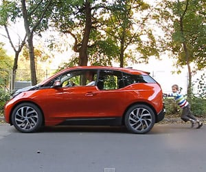 7-year-old Boy Pushes a BMW i3
