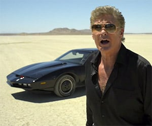 Driving the 1985 Pontiac Firebird KITT Car with The Hoff
