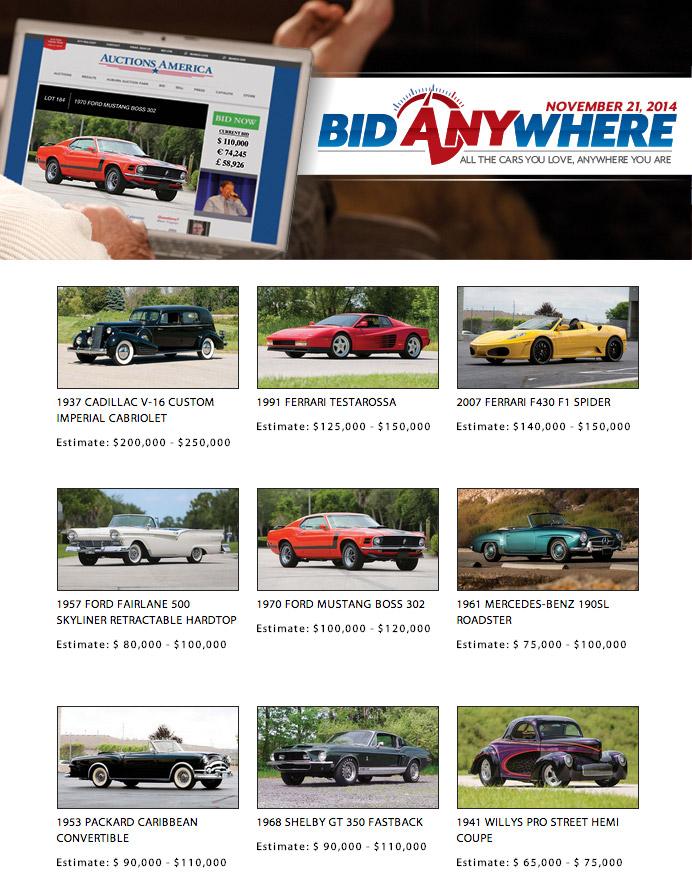 Auctions America's Online Classic Car Auction