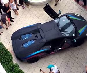 Lamborghini Aventador vs. Shrubbery