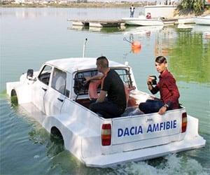 Romania's Newest Ship: An Amphibious Dacia Pickup