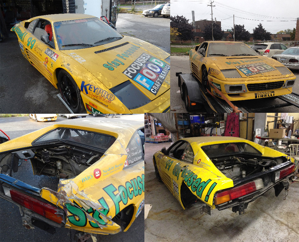 Help Save this Rare Ferrari 348 Challenge Race Car