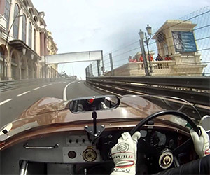 Racing a Jaguar C-Type on the Streets of Monaco