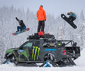 Ken Block Conquers a Snow-Covered Mountain