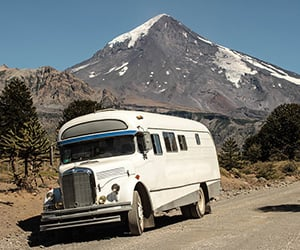 Explore South America in this 1966 Mercedes Bus