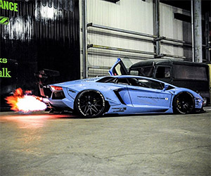 Liberty Walk's Fire-Breathing Aventador