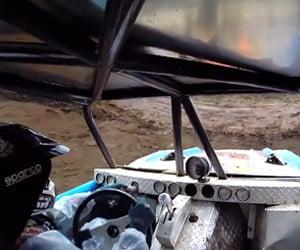 Formula Offroad Driver Loses Steering Wheel