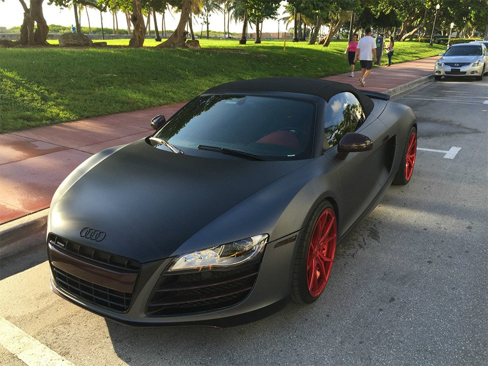 Matte Gray 2011 Audi R8 V10 Spyder On Ebay