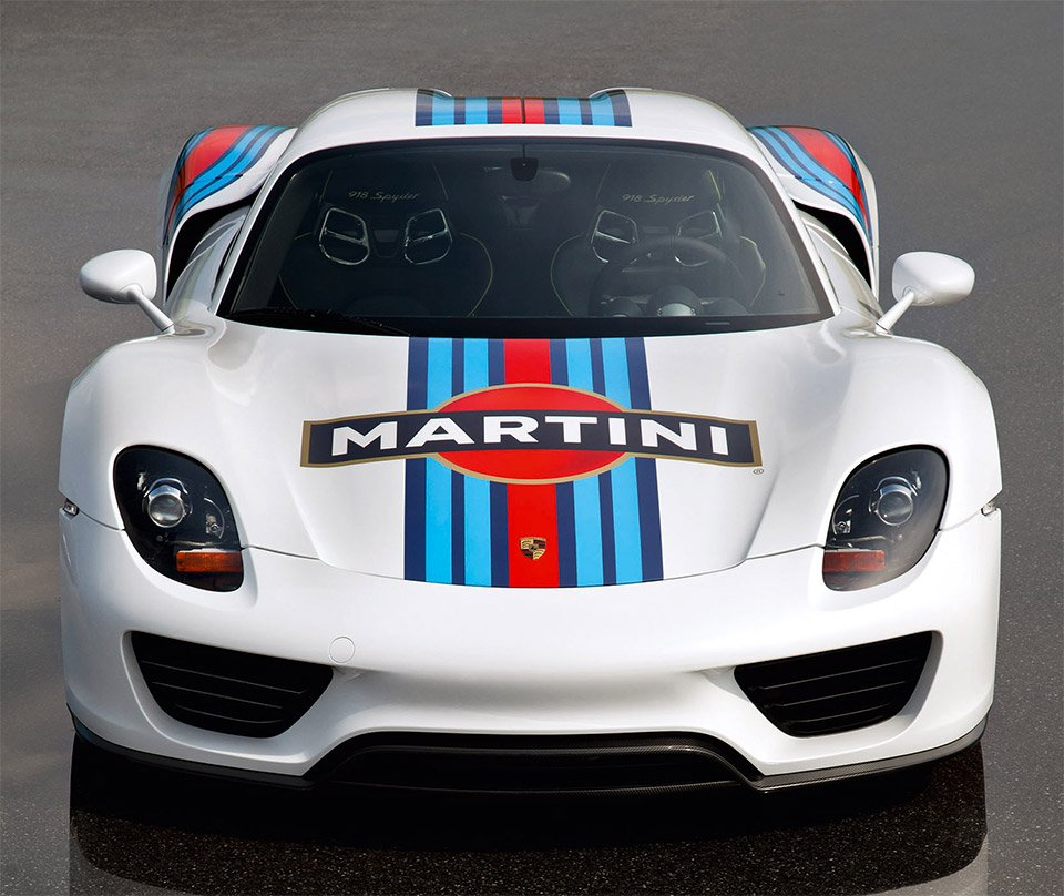 Porsche Range Trimmed In The Martini Racing Livery 95 Octane