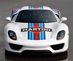 Porsche Range Trimmed in the Martini Racing Livery