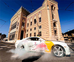 Red Bull Taxi Drifting in Sarajevo