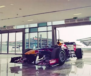 Red Bull Hoons a Formula 1 Car Through the Mall