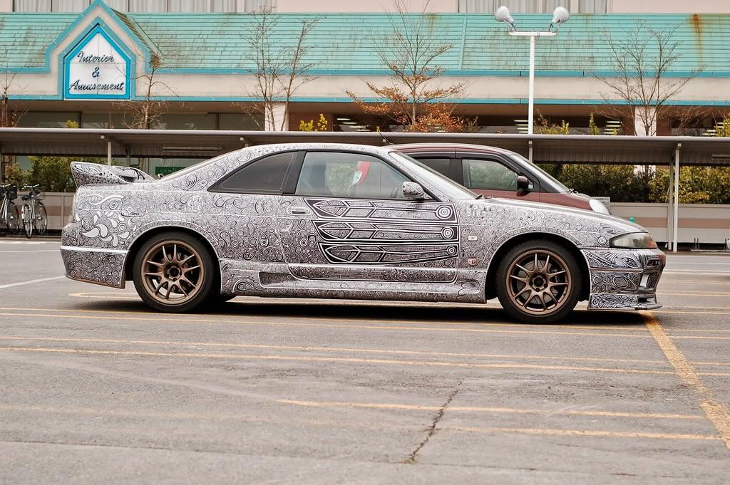 Sharpie Marker Art Nissan Skyline GT-R
