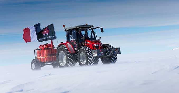 Massey Ferguson Girls : Driving a tractor to the south pole octane