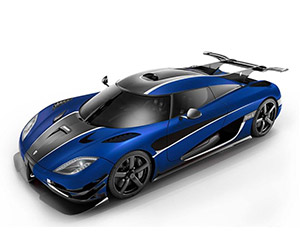 Koenigsegg One:1 in Blue Carbon & Right Hand Drive