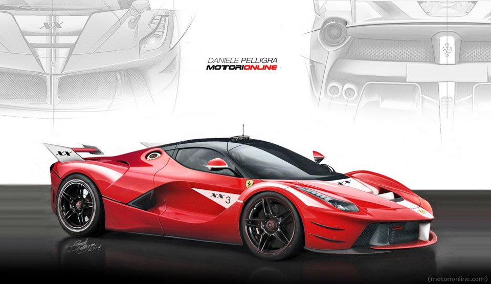 Track-Only Ferrari LaFerrari XX Rendered
