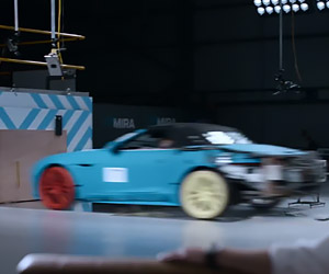 Watch Jaguar Crash Test an F-Type