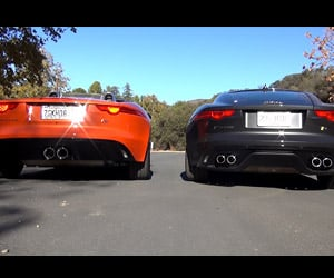Jaguar F-Type V6 S vs. V8 R Rev Battle