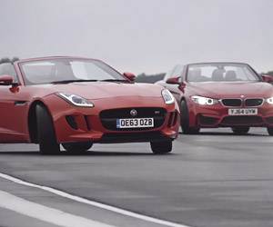 BMW M4 vs. Jaguar F-Type V6 S Drift-Off