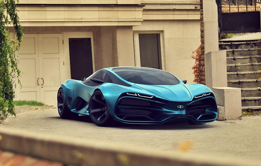 Designer Proposes Lada Supercar Concept 95 Octane