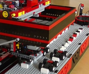 LEGO Car Factory Churns out Tiny Cars