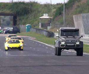 Mercedes-Benz G63 AMG 6×6 on a Race Track