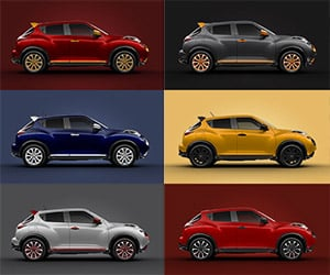 Nissan Juke Color Studio: 100% Original