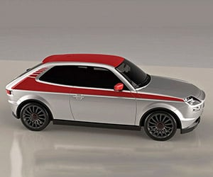Retro Fiat 127 Design Prototype Shines