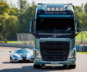 Volvo Pits an FH Truck Against a Koenigsegg One:1