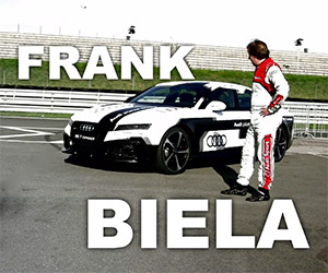 Champion Frank Biela Reads the Paper at 189 mph