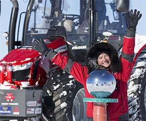 Tractor Girl Reaches the South Pole