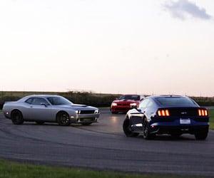 Challenger Hellcat, Camaro Z/28 and Mustang GT Showdown