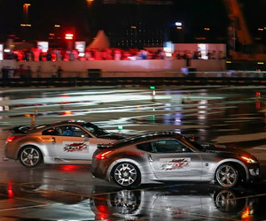 Nissan Breaks Twin Drifting World Record