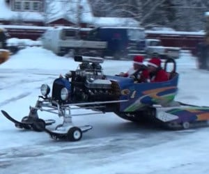 Santa Upgrades to a V8 Sleigh
