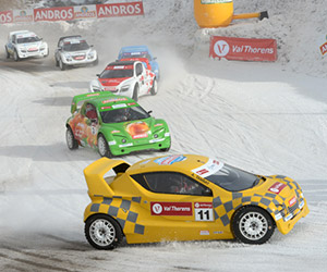 Electric Cars Race on Ice: Trophée Andros Electrique
