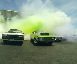 103 Cars in an Epic Burnout