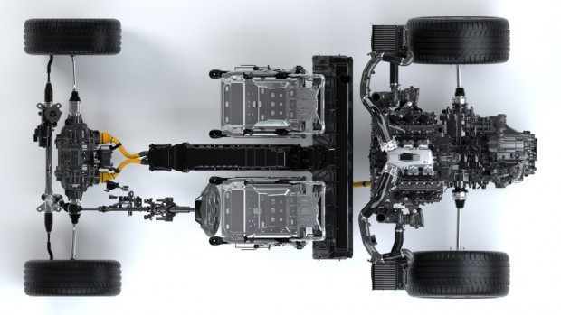 NSX Powertrain - Top View