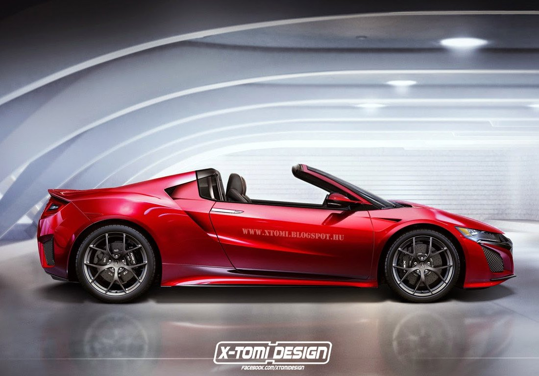2016 Acura NSX Rendered as a Targa