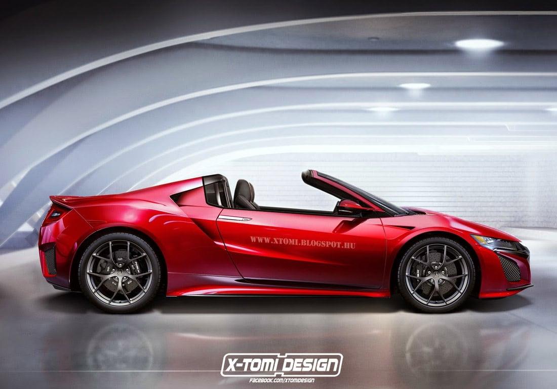 2016 Acura NSX Rendered as a Targa