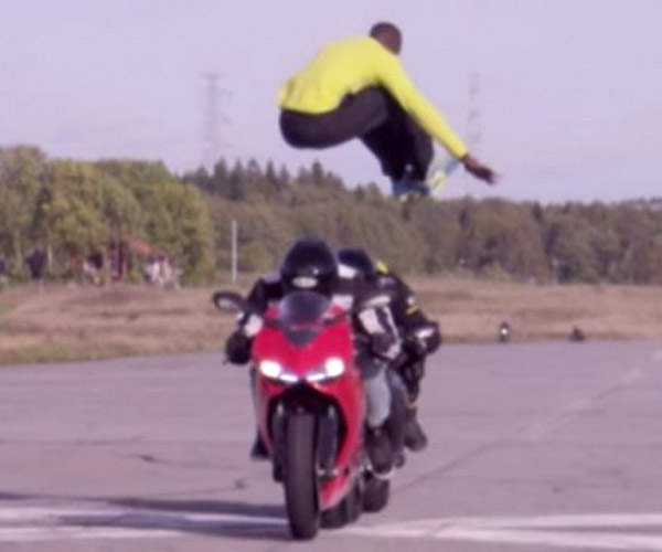 This Guy Jumped over Two 70 MPH Motorcycles