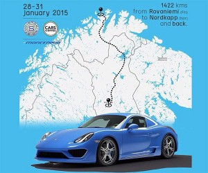 Driving a Porsche to Europe's Northernmost Point