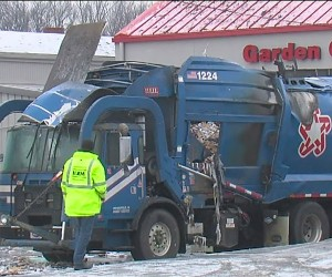 CNG Powered Garbage Truck Explodes