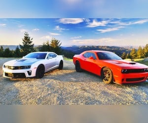 Challenger SRT Hellcat and Camaro ZL1 Square Off