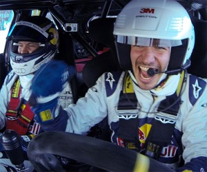 Audi S1 Rally Car Conquers a Ski Slalom Course