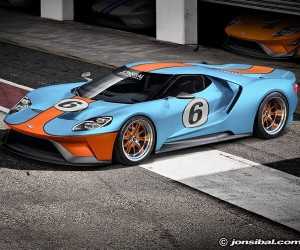 2016 Ford GT Rendered in Gulf Livery