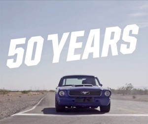 Smoking Tires to Celebrate 50 Years of the Mustang