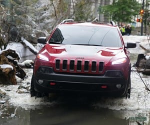 Jeep Turns Vancouver Street into a Mountain Stream