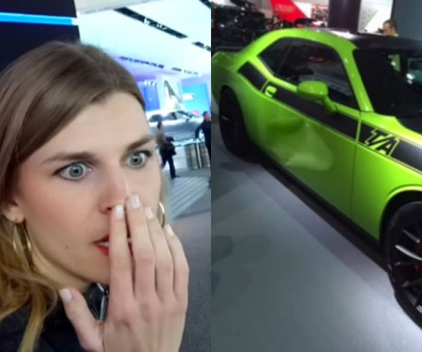 "Prankster ""Damages"" Cars at Detroit Auto Show"