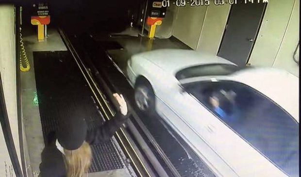 Driver Floors it into Car Wash and Destroys Everything